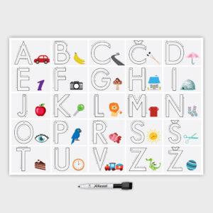 Slikovna abeceda piši-briši