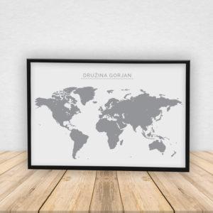 Zemljevid s poljubnim napisom