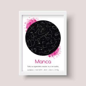 Ozvezdja – roza akril