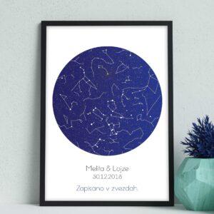 Zvezdno nebo – Modro