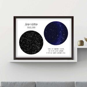 Zvezdno nebo – dvojno, belo