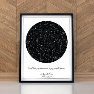 Grafika zvezdnega neba – bela