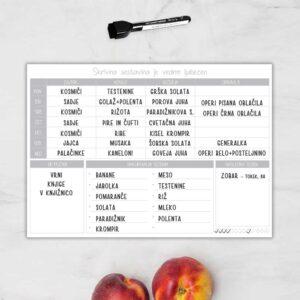 Kuhinjski planer piši-briši