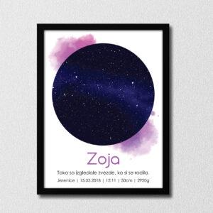 Zvezde – vijolična akril